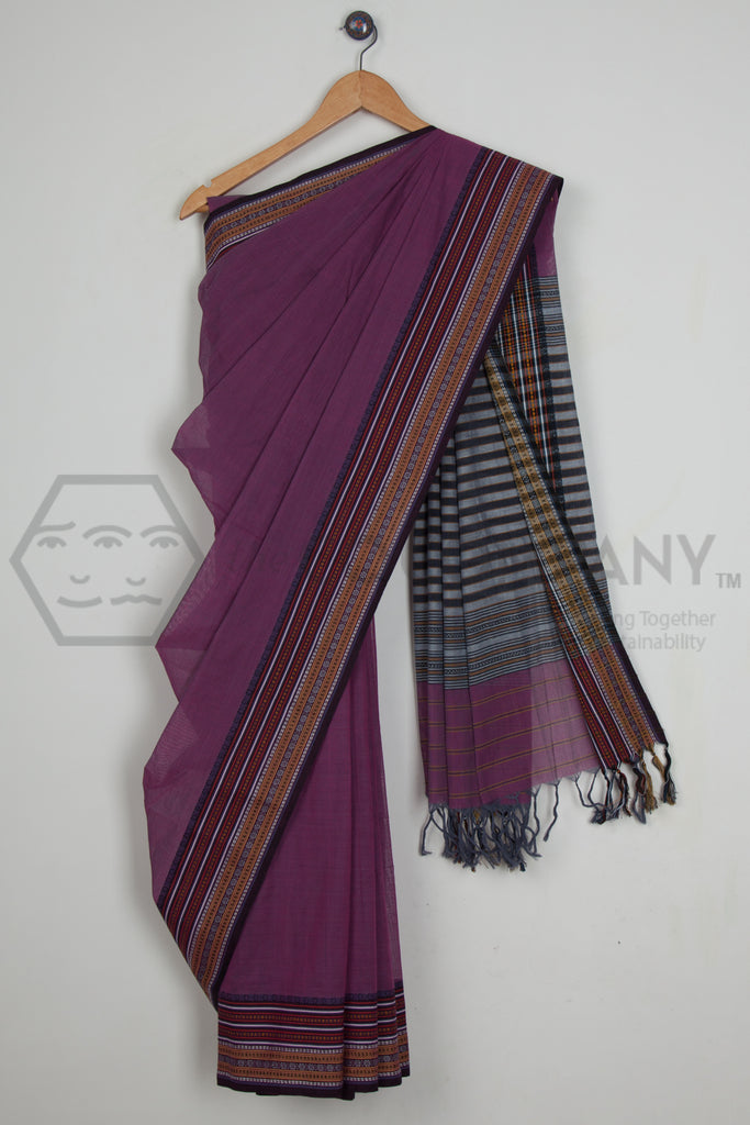 Dobby Border Begampur Cotton Saree