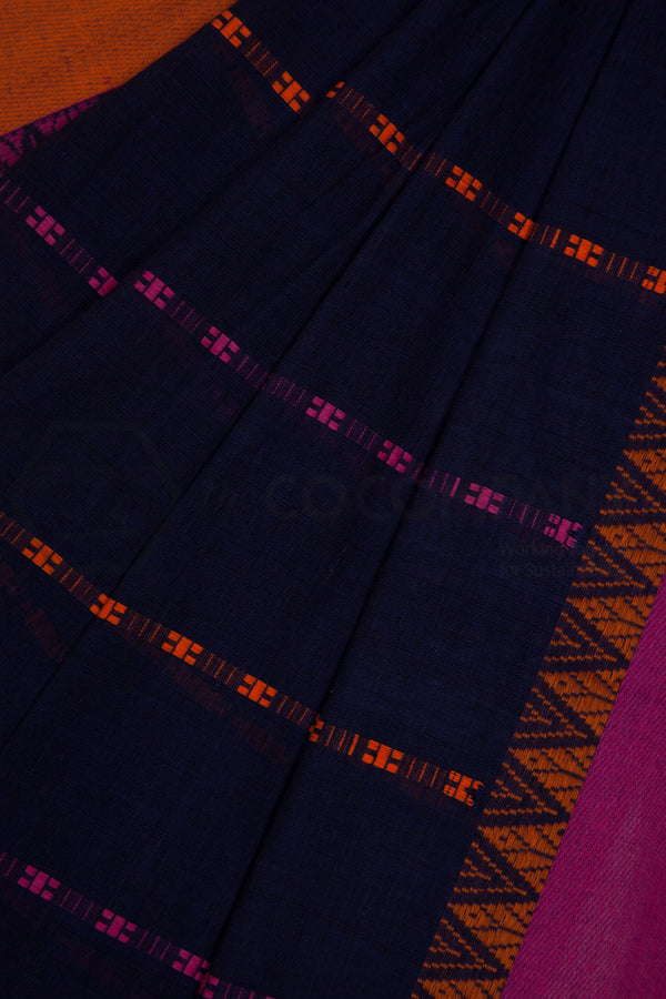 Blue Begampur Cotton Saree