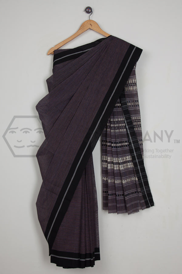 Pin Striped Begampur Cotton Saree