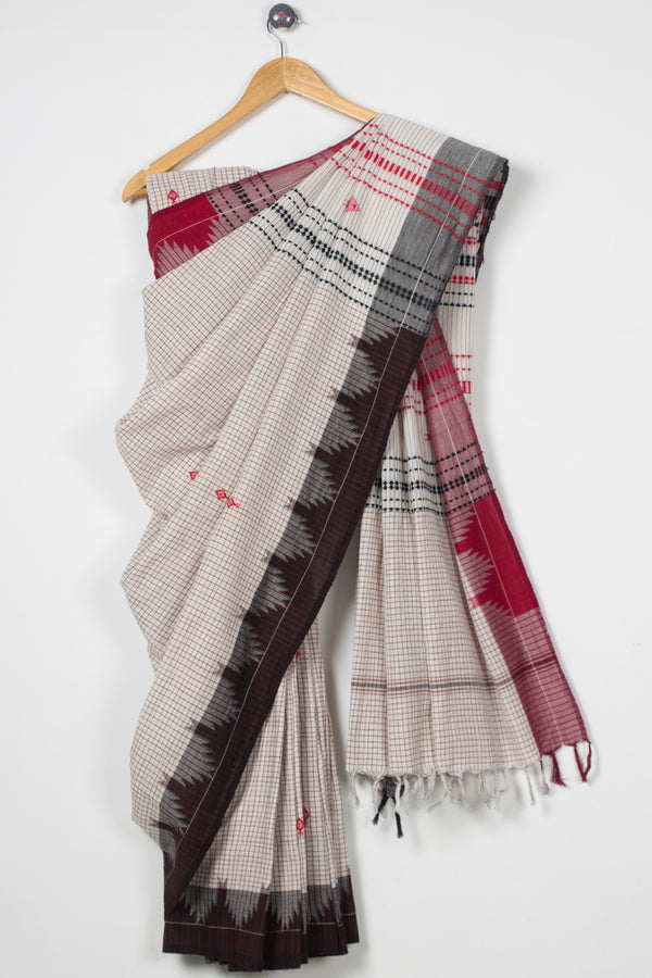 Small Checks Kotpad Saree