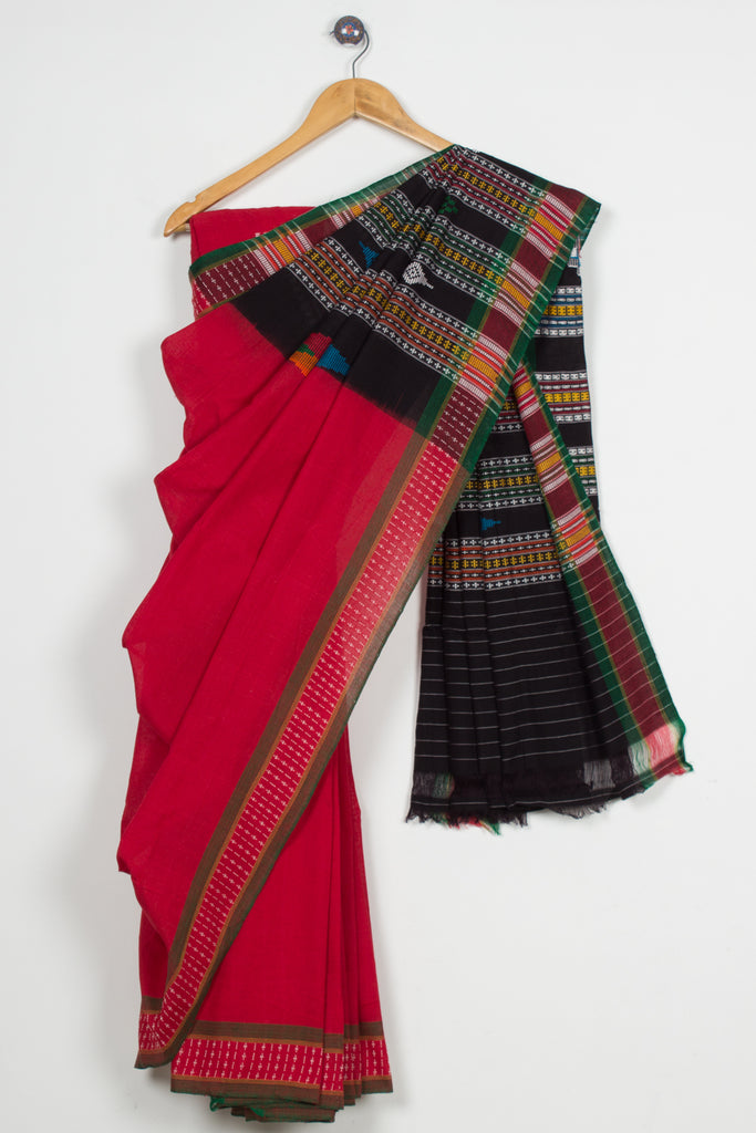 Red Dhalapathar Saree