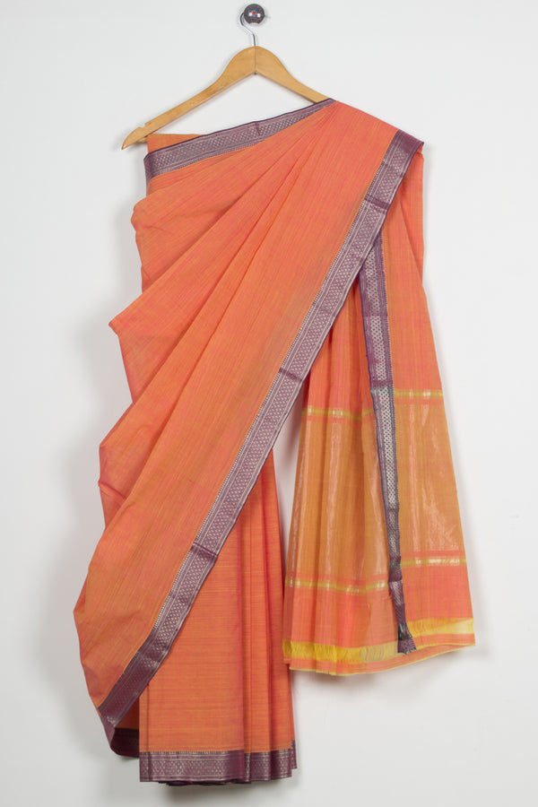 Diamond Border Mangalgiri Saree