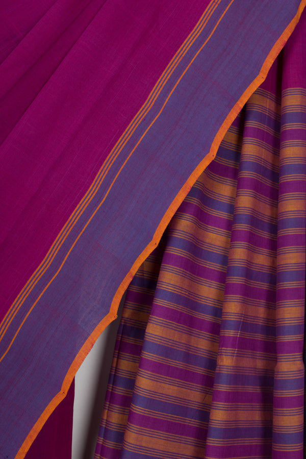 Solid Magenta Saree