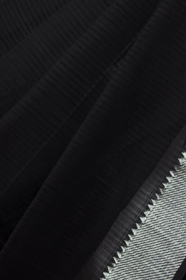 Nizam Border Mangalgiri Black Saree