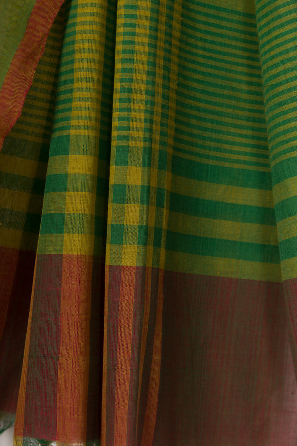 Green Striped Saree