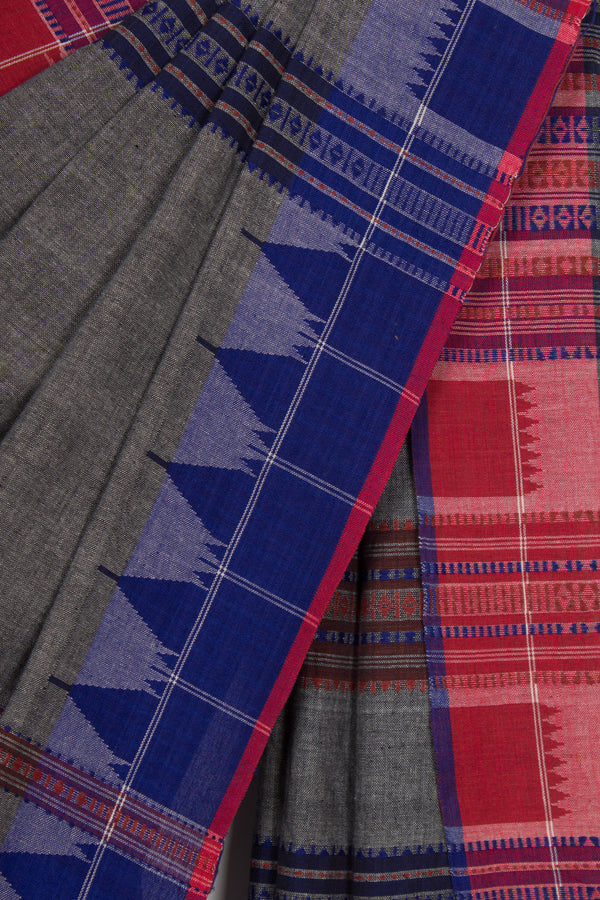 Unusual Grey Kotpad Saree