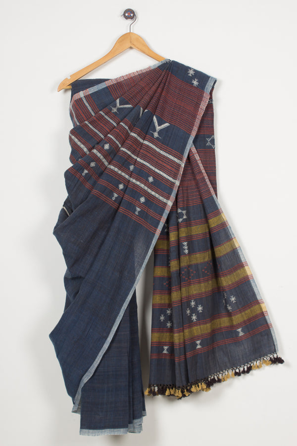 Kala Cotton Natural Dye Bhujodi Saree