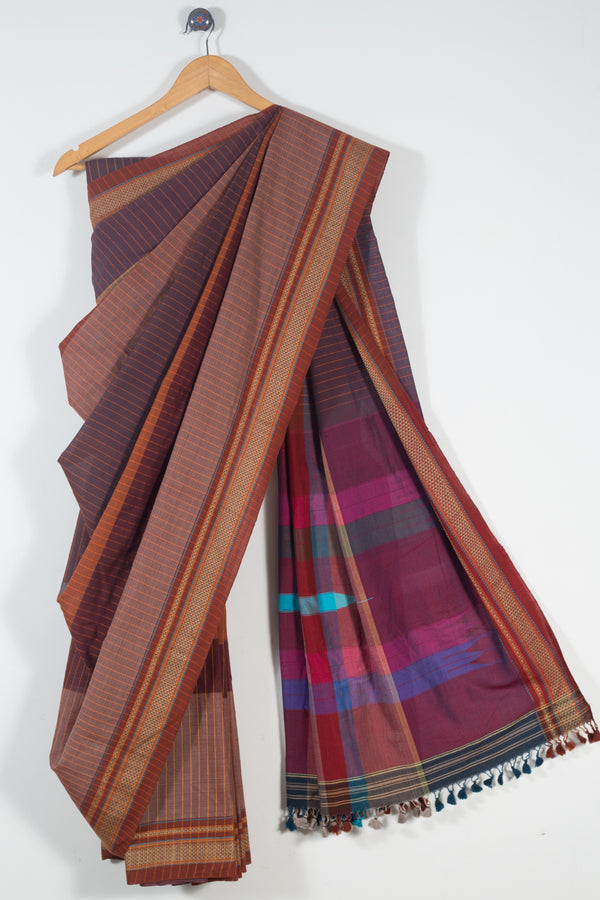Striped Ilkal Saree