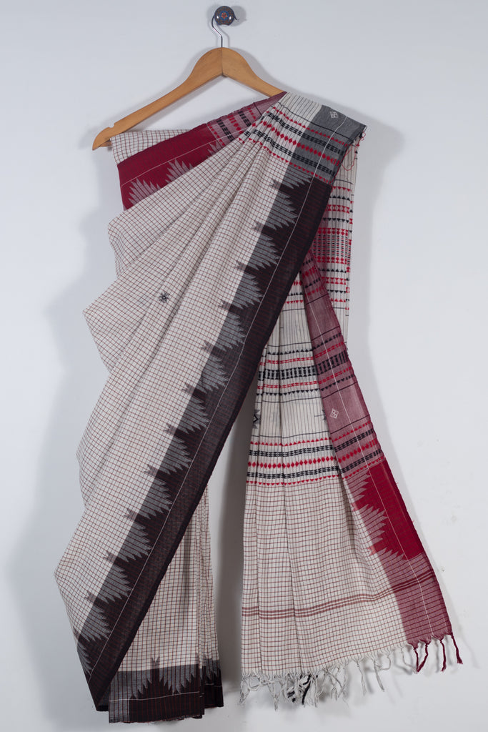 Checkered Kotpad Saree