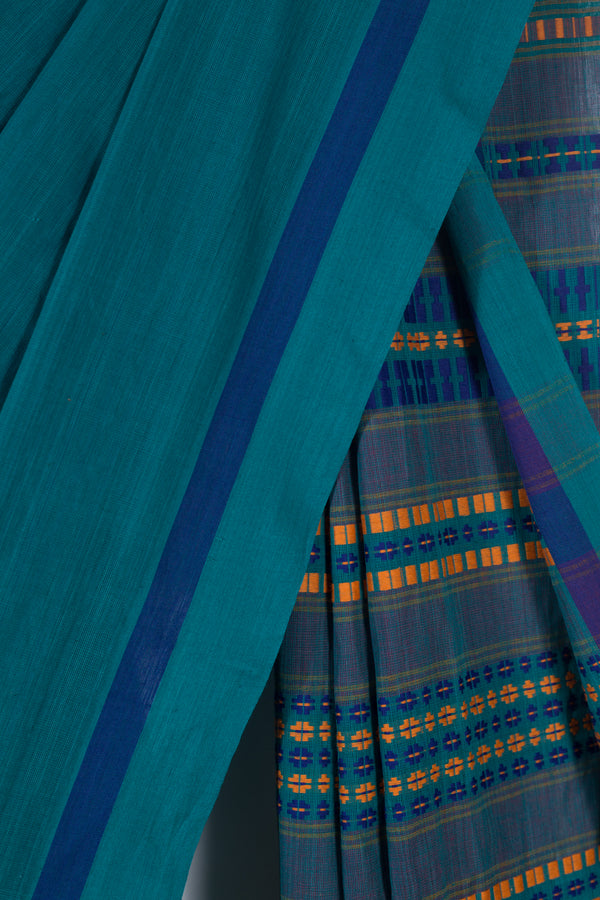 Begampur Sea Green Saree