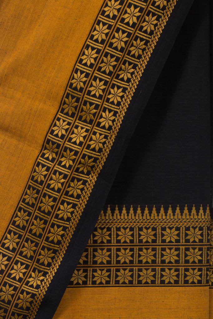 Black Dobby border Saree