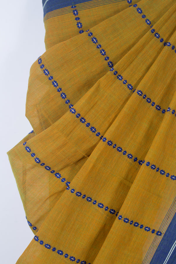 Begampur Green Yellow Saree