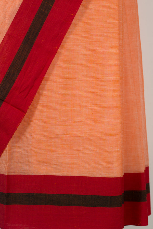 Orange Solid Saree