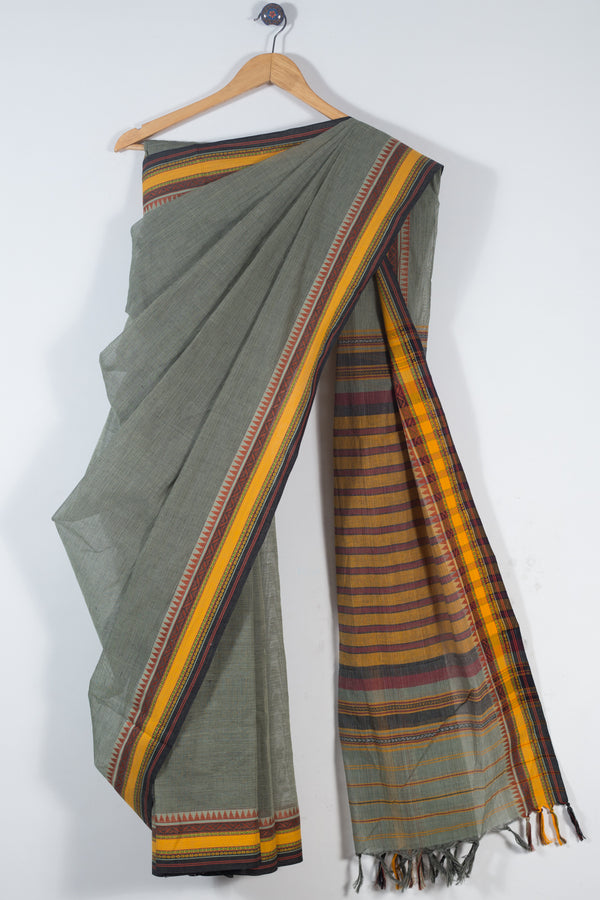 Dobby Border Cotton Saree