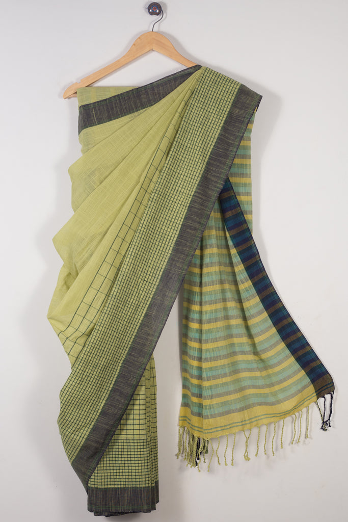 Slub Khadi Cotton Saree