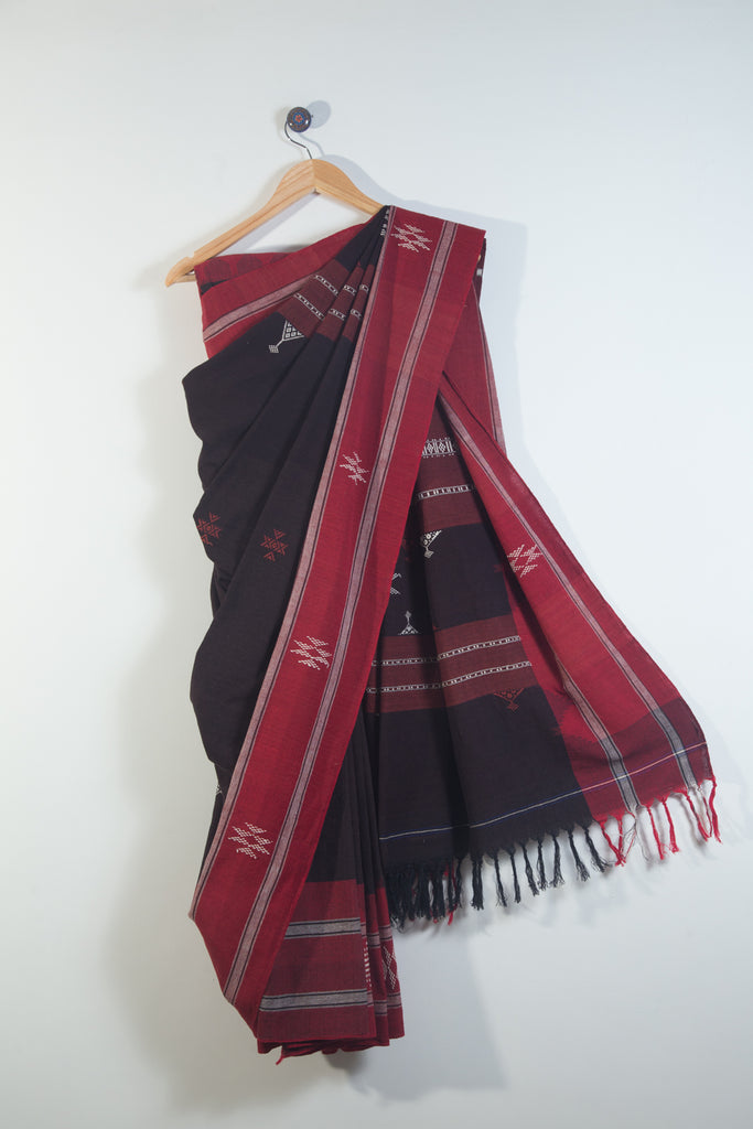 Brown Kotpad Saree