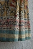 Ochre Saree with Tridax Leaves Kalamkari