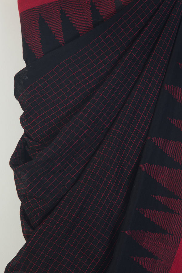 Black Jaamdani Saree