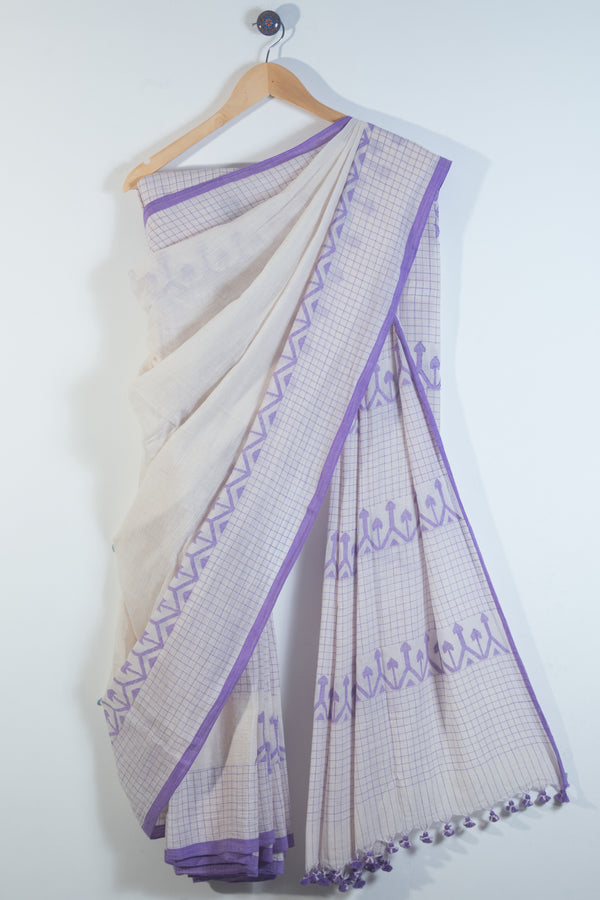 Kora Arrow Jaamdani Saree