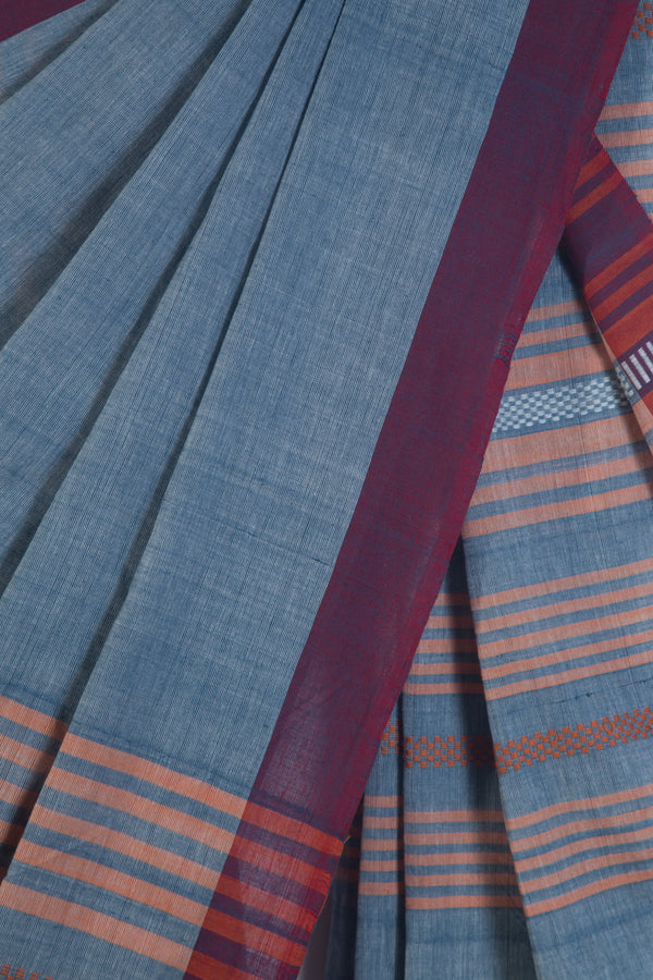 Blue Assam Saree