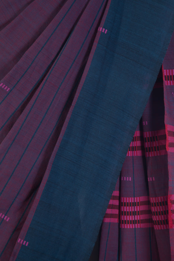 Checkered Assam Saree