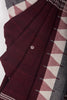 Maroon Black Kotpad Saree