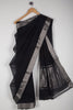 Black Missing Checks Mangalgiri Saree