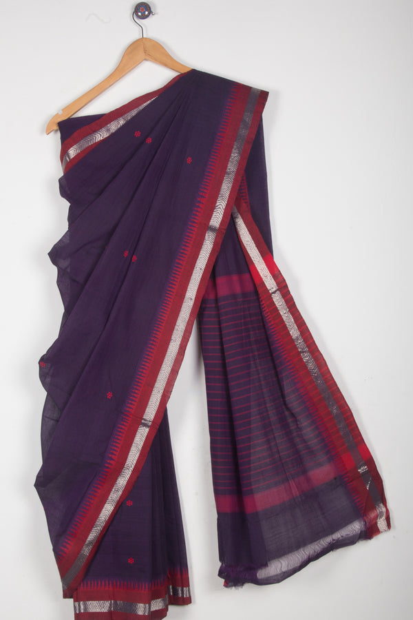 Mangalgiri Cotton Saree with Booti