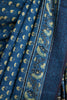 German Indigo Small Ajrakh Print Saree