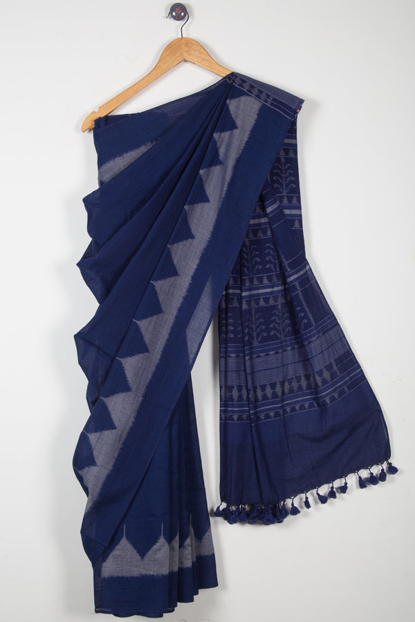 Ikat Saree with Temple Border