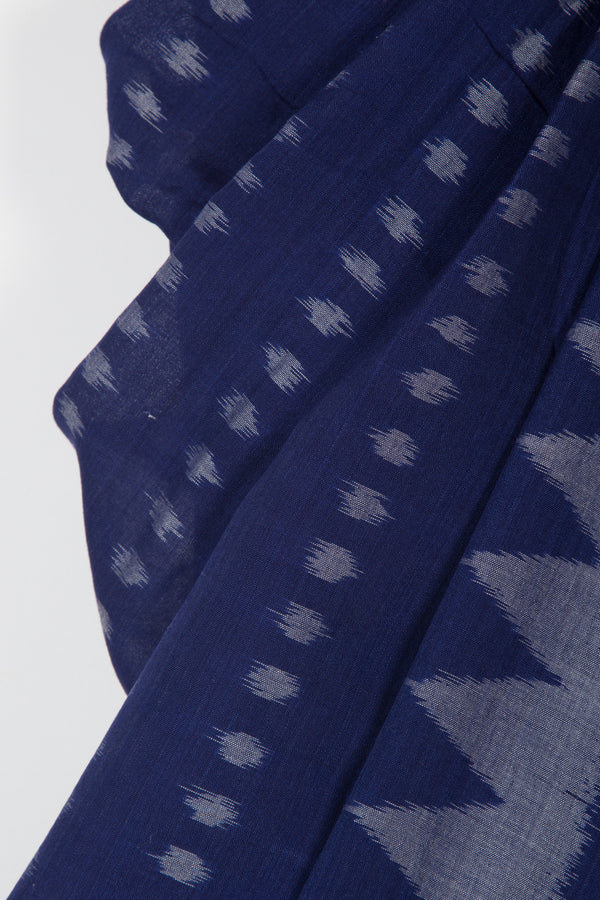 Ikat Saree with Temple Border and Allover Butta