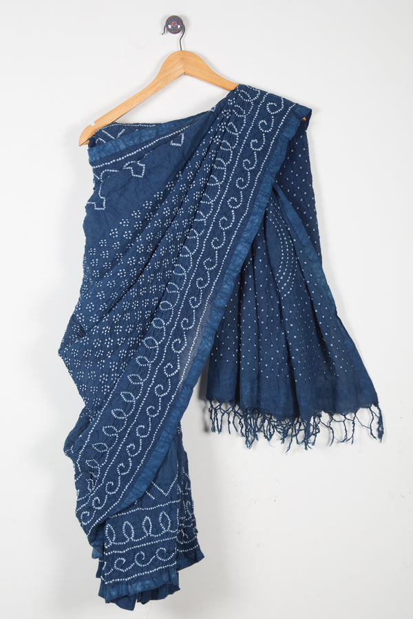 Fine Cotton Bandhani Saree