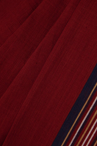 Maroon Saree with Stripe Border
