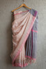 Peach Purple Linen Saree Saree