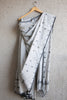 Light Grey Jaamdani Saree with Floral Motifs