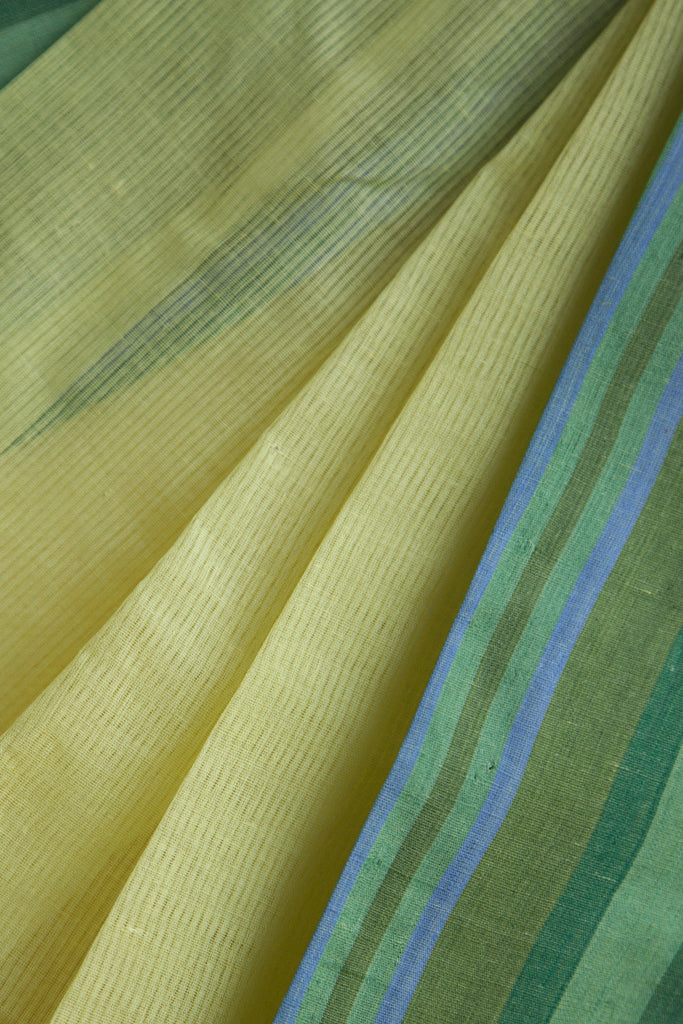 Missing Lines Lemon Yellow Saree