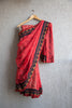 Red Kota Doria Saree