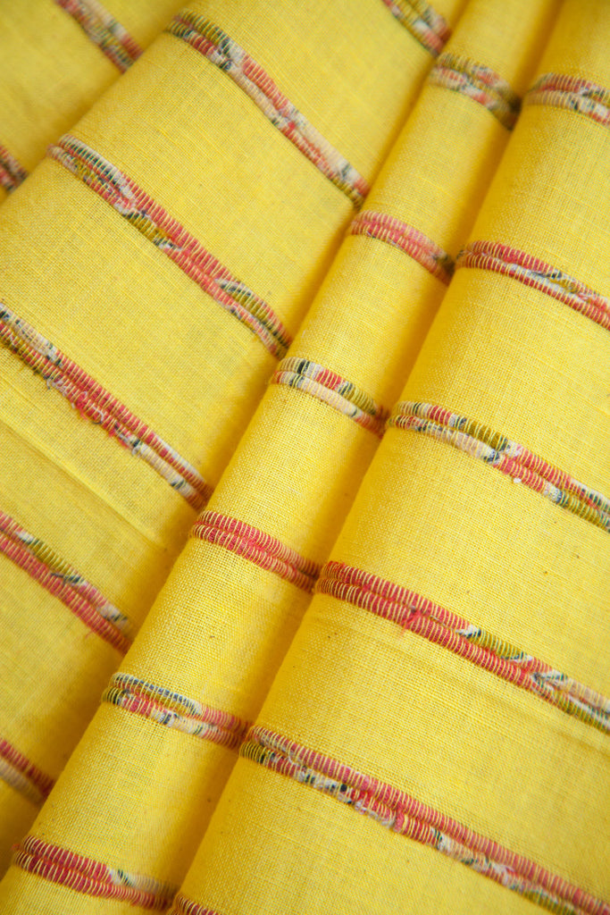 Yellow Khesh Saree