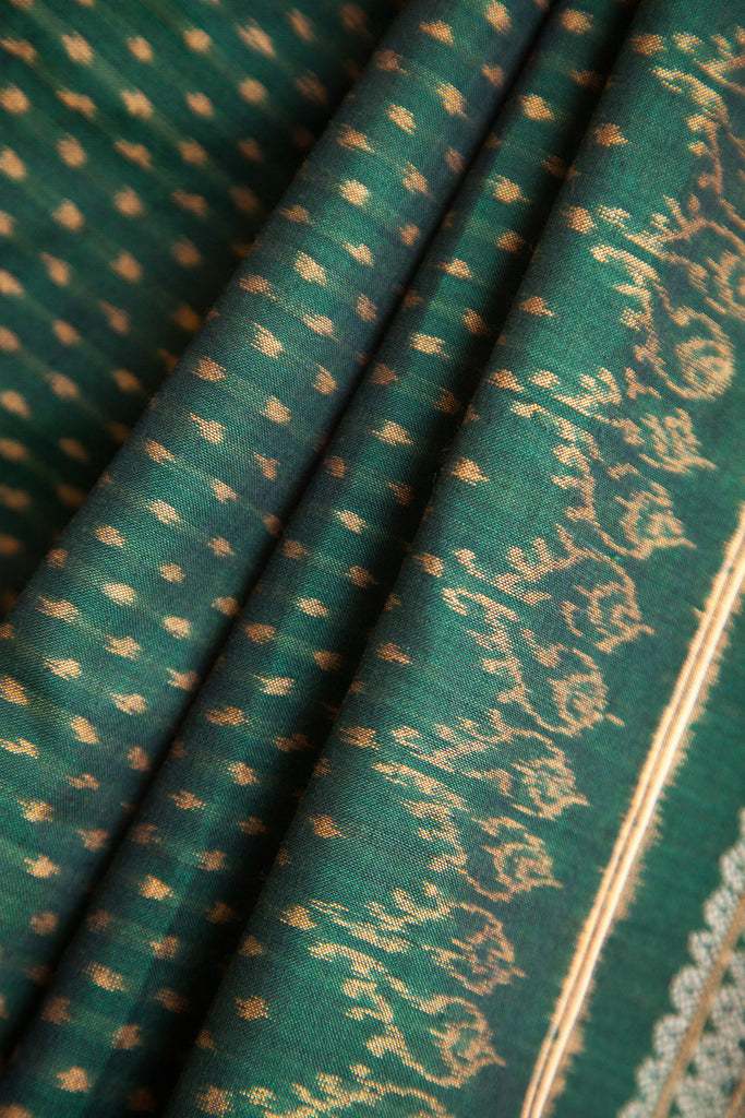 Green Dotted Saree