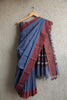Steel Blue Begumpuri Saree