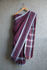 Plum Checkered Saree