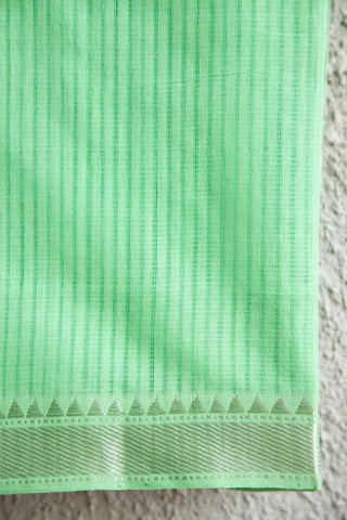 Light Green Mangalgiri Saree