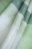 White Green Linen Saree