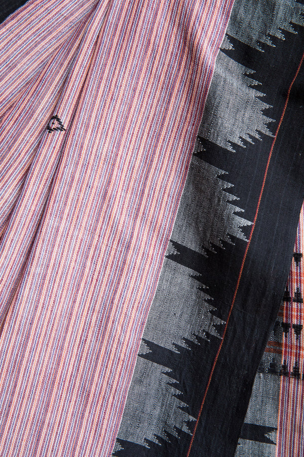 Uneven Striped Kotpad Saree