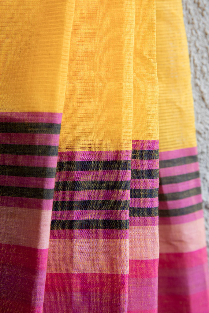 Missing Lines Yellow Saree