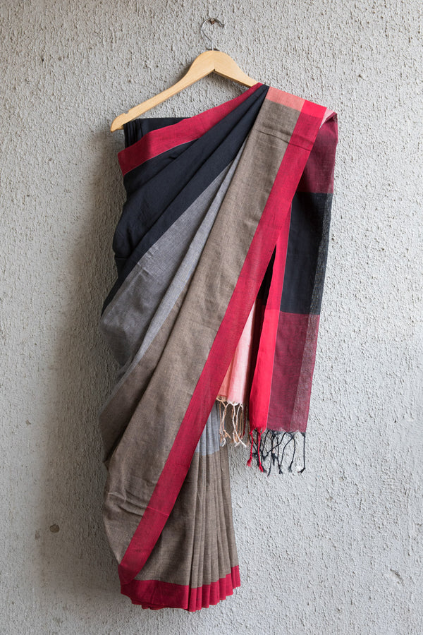 Black Beige Saree