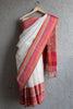 Missing Lines Saree Orange Border