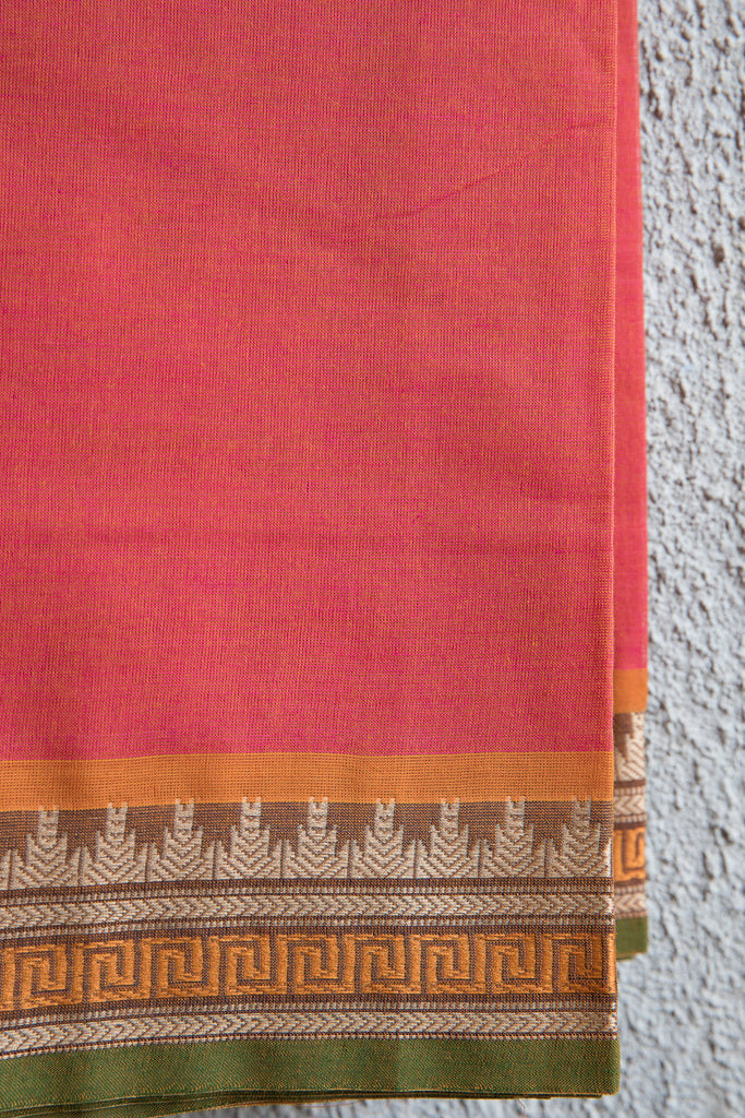 Orangish Pink Saree