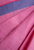 Checkered Pink Khadi Saree