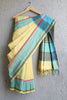 Yellow Globe Border Saree